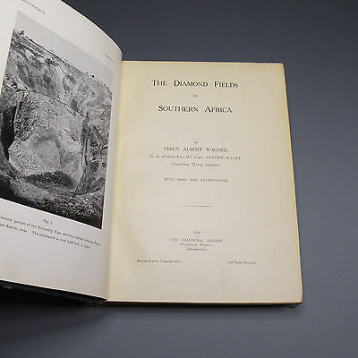 1914 first edition book - The Diamond Fields of South Africa - diamond mining