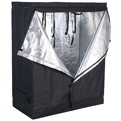 120 X 60 X150CM Indoor Grow Light Box Tent Aluminum lined Bud Dark Room