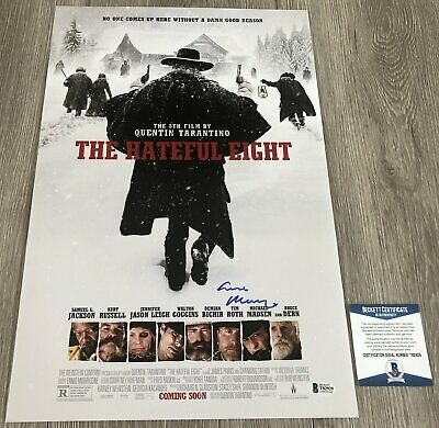 ENNIO MORRICONE SIGNED AUTOGRAPH THE HATEFUL 8 EIGHT 12x18 POSTER w/EXACT PROOF