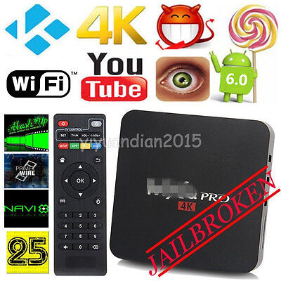 4K HD Smart TV BOX Amlogic S905 Quad Core Android Media Player Fully Loaded UK