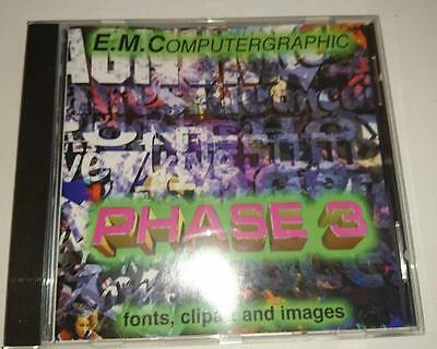 Commodore Amiga CD   - E.M.Computergraphics Phase 3 -Fonts Clipart and Imag 1995
