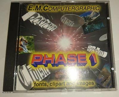 Commodore Amiga CD   - E.M.Computergraphics Phase 1 -Fonts Clipart and Imag 1995