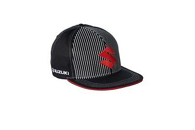 Genuine Suzuki Unisex S-Style Cap Hat Black 100% Cotton Small to Medium