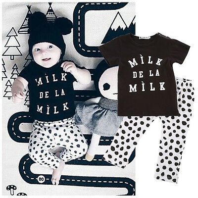 Lovely Bimbo Baby Boy Top Ragazze T-shirt+Tuta Pois 2 pz Outfit Set Vestiti