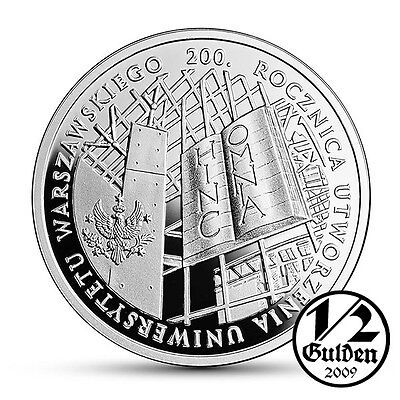 POLAND 10 Zlotych 2016 University of Warsaw Silver Proof Coin
