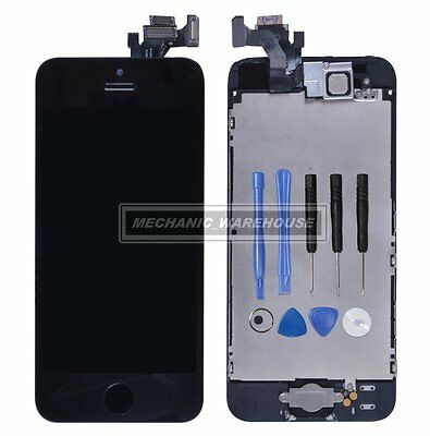 For iPhone 5 5G LCD Display Touch Screen Digitizer Assembly Home Button Camera