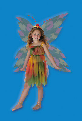 New Amber Woodland Fairy Girls Halloween Fancy Dress Costume - Size 4/6