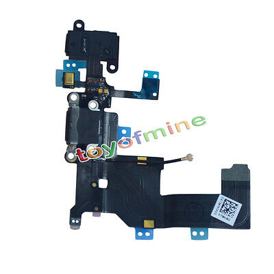 Black Charger Dock Port Connector Flex Cable Replacement for iPhone 5G