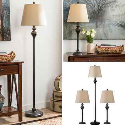 Enjoyable Table Floor Lamp Set Vintage Bronze Contemporary Lamps Shade Living Room Pair 3 Home Interior And Landscaping Pimpapssignezvosmurscom