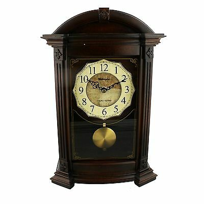 Large Deluxe Arched Top Mantel Clock with 4 Chime Options - Westminster Chime