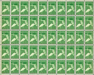 1947 - FLORIDA EVERGLADES - #952 Full Mint -MNH- Sheet of 50 Postage Stamps
