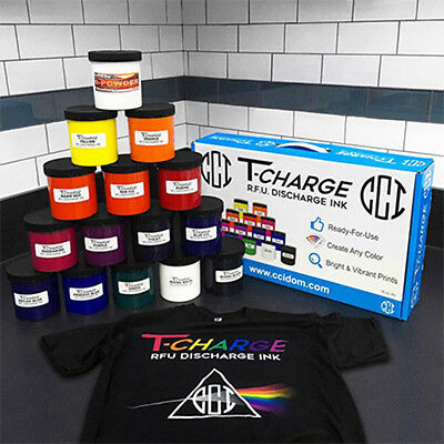 Screen Printing Ink Waterbased Discharge Ink / Color mixing system - 14 Pint kit