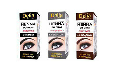Delia Henna Traditional For Eyebrow Tint Brown /Black/Graphit Buy 3 Get 1 Free !