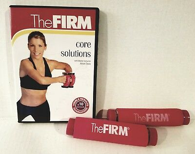 The FIRM CARDIOWEIGHT 2x 1lb WEIGHTS + CORE SOLUTIONS DVD SET + FREE Bonuses