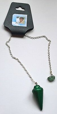 Agate Dowsing Pendulum, contains blessed by John of God Casa Crystal Gemstone