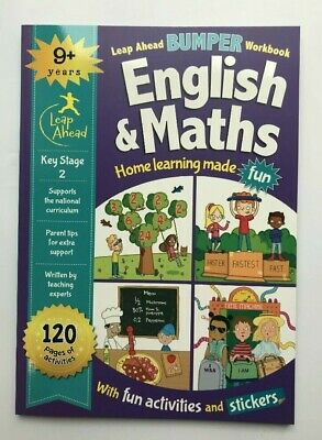 Leap Ahead Bumper Workbook English & Maths Home Learning Age 9+ Years New KS2