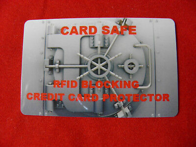 RFID BLOCKING CARD - FOR WALLET AND CARD SCAN PROTECTION stop card scanning