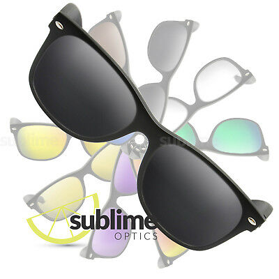 POLARIZED Black Replacement Lenses For Ray Ban RB2132 New Wayfarer 55mm