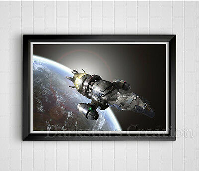 Firefly Leaving Earth - Limited Edition Serenity Art Print - Darkstars Creation