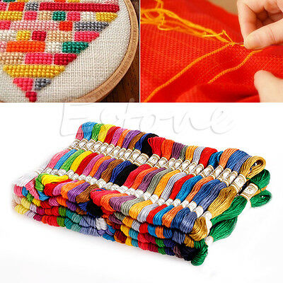 100 Different Colors Cross Stitch Cotton Embroidery Thread Floss Sewing Skeins