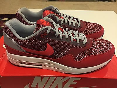 new style b3c14 a0855 Nike Air Max 1 JCRD Gym Red Laser Crimson  644153 600  Size 10.5