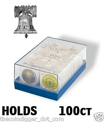 Coin Storage for 2x2 Paper Flip 100 Coin Holder Lighthouse Plastic Storage Box