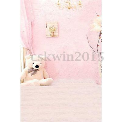 3x5ft  Pink Baby Child Photos Studio Props Vinyl Photography Backdrop Background