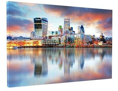 Stunning London Skyline Landscape Canvas Picture Print Wall