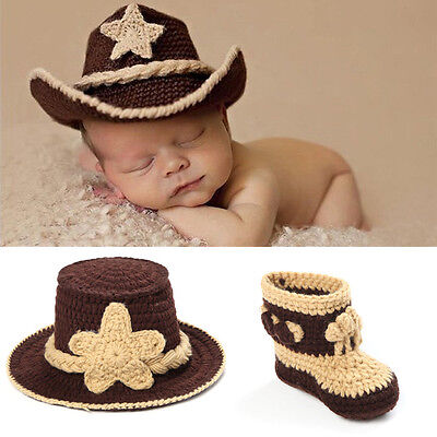 Newborn Baby Girls Boys Crochet Knit Costume Photo Photography Prop Outfits #20
