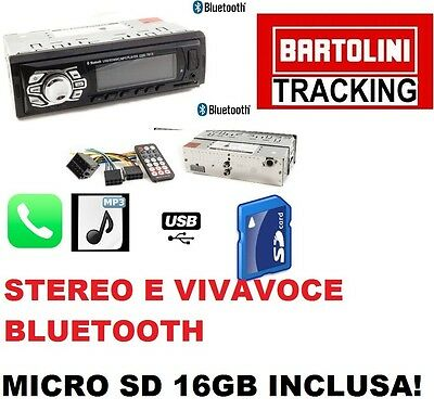 Stereo Auto Bluetooth Autoradio Vivavoce Radio Fm Mp3 Usb Aux Sd Card New
