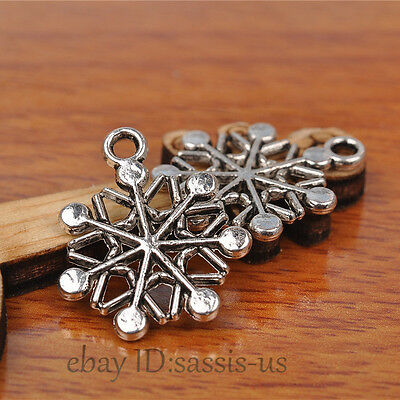 50pcs 20mm Charms snow flower Tibet silver pendant Diy Jewelry Bead Making A7215
