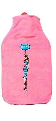 Spa Comforts Hot Water Bottle Relax Pink