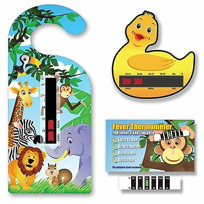 Jungle Animals Thermometer Pack - Jungle Room, Duck Bath & Monkey Forehead