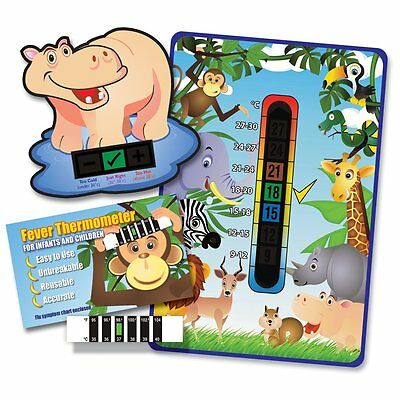 Baby & Child 'Jungle Animals' Thermometer Pack - Room, Bath & Forehead