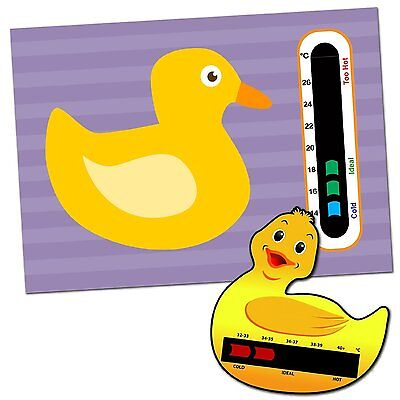 Baby & Child Thermometer Pack - Duck Baby Bath and Duck Baby Room Thermometers