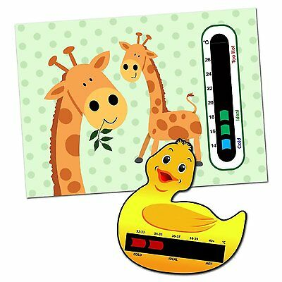 Baby & Child Thermometer Pack - Duck Baby Bath and Giraffe Baby Room Thermometer