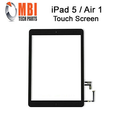 Replacement Touch Screen Glass Digitizer + Home Button iPad Air 1 1st Black