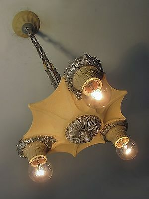 OUTSTANDING! Completely Restored 1930s MARKEL 3 Light Fixture - PAIR AVAILABLE!!