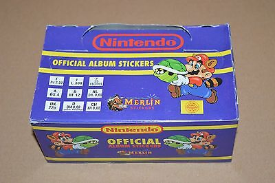 1992 MERLIN Nintendo Stickers Full Box 100 packs Super Mario Bros Zelda NES