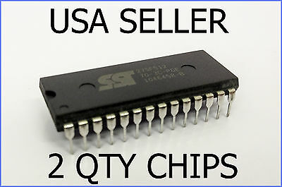2x GENUINE NEW SST 27SF512 EEPROM REBURNABLE CHIPS COMPUTER ECM ECU PROM
