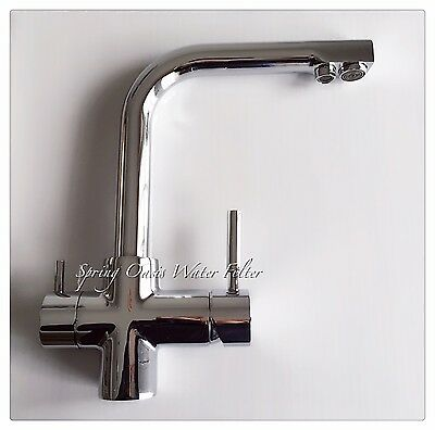 Luxury Kitchen Drinking/Hot/Cold Water Triple Function Faucet (Polished Chrome)