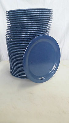 10 - Carlisle Cafe Blue Dinner Plates