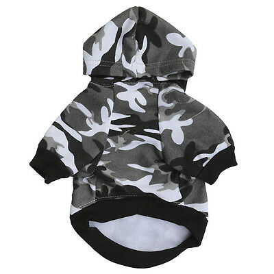 Dog Cat Camouflage Puppy T-Shirt Coat Pet Clothes Winter Apparel Costumes