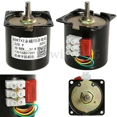 AC 220V 10RPM A60KTYZ Gear-Box Electric Synchronous Motor Speed Reducing Torque