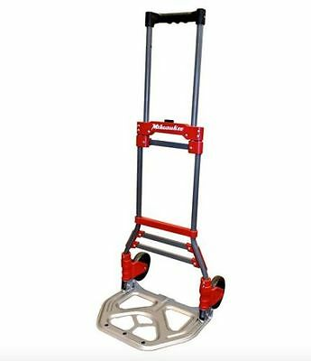 Milwaukee Folding Hand Truck Moving Dolly Cart Wheels Heavy Duty Steel Portable