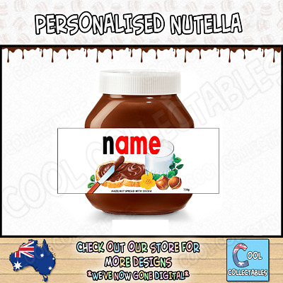 Nutella * Personalised Label - Make your own label- 750g * 5 Labels * Birthday *