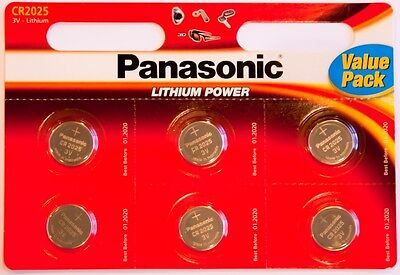 24 X Panasonic CR2025 3V Lithium Coin Cell Battery 2016 For PC, Bell, Car Remote