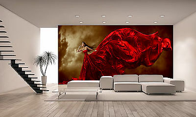 Woman-Red Dress Wall Mural Photo Wallpaper GIANT DECOR Paper Poster Free Paste