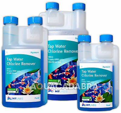 Nt Labs Aquasure Fish Pond Tap Water Conditioner Chlorine Remover Reduces Stress