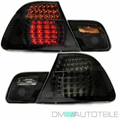 Bmw E46 3 Series Coupe Black Smoked Led Rear Lights Tail Light 99-03 2-Doors Set